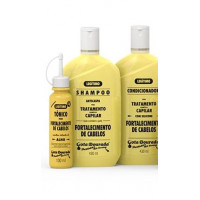Kit gota dourada  Shampoo + Condicionador  +  Oleo  Leve 3 Pague 2