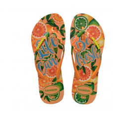 Havaianas WOMEN'S SLIM PARADISE FLIP FLOPS LIGHT ORANGE