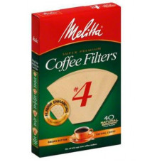 Melitta Coffee Filters, Cone, Natural Brown, No. 4 - 40 Each
