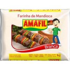 Farinha De Mandioca Branca Amafil 1kg