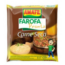Amafil Farofa Carne Seca 250g