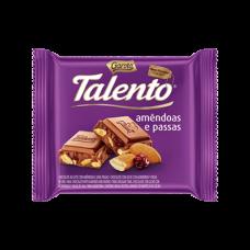 Chocolate Talento Amendoas e Passas  Garoto 90 Gr