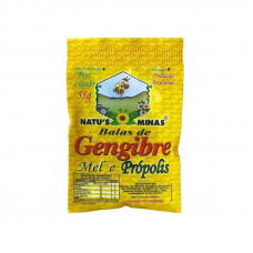 Balas de Gengibre Mel e Propolis Natu's Minas 55 g