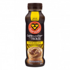 Cappuccino Pronto Sabor Chocolate 3 Coracoes 260ml