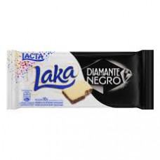 Chocolate Barra Laka/Diamante Negro Lacta 90g