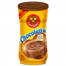 Chocolatto chocolate em po 3 coracoes em lata 400 g
