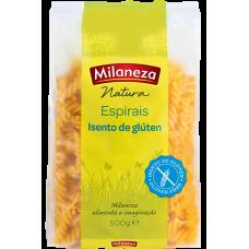 Macarrao Natura Espirais Isento de Gluten Milaneza 500g