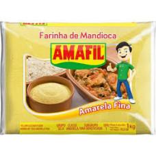 Farinha De Mandioca Amarela Fina Amafil 1kg