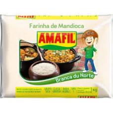 Amafil Farinha De Mandioca Branca do Norte Grossa 1kg