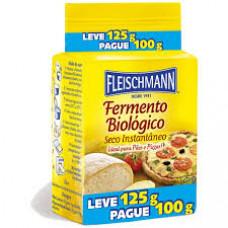 Fermento Biologico Seco Instantaneo Fleischmann Leve 125g Pague 100g