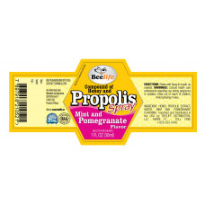 Composto Extrato de Propolis, mel, menta e Pomegranate em Spray Beelife 30ml